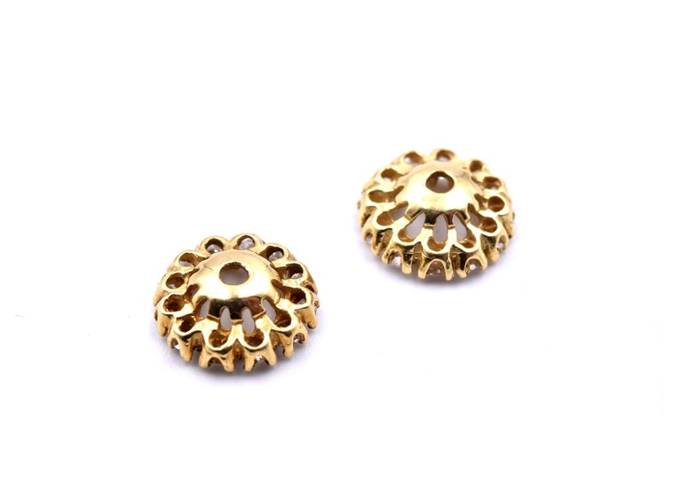 14 Karat Yellow Gold Diamond Jackets In Excellent Condition For Sale In Scottsdale, AZ