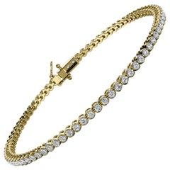 14k Yellow Gold Four Prongs Diamond Tennis Bracelet '1 Ct. tw'