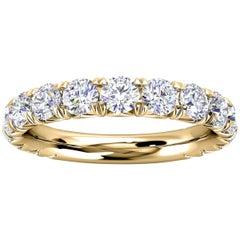 14k Yellow Gold GIA French Pave Diamond Ring '1 1/2 Ct. Tw'