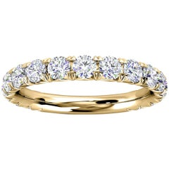 14k Yellow Gold GIA French Pave Diamond Ring '1 Ct. Tw'