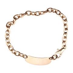 14 Karat Yellow Gold ID Link Bracelet