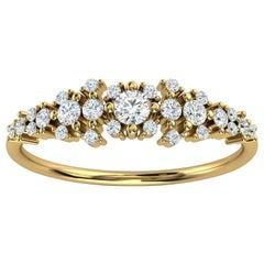14K Yellow Gold Kandi Organic Design Diamond Ring '1/4 Ct. Tw'