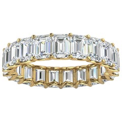 14k Yellow Gold Leora Eternity Emerald Diamomd Ring '4 Ct. Tw'