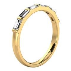 14k Yellow Gold Lindie Baguette Organic Design Diamond Ring '1/2 Ct. Tw'