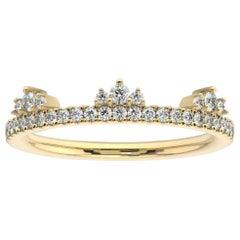 14K Yellow Gold Meghan Diamond Ring '1/4 Ct. tw'