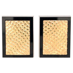 14k Yellow Gold Onyx Border Cufflinks