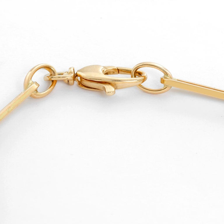 14K Yellow Gold Paper Clip Chain Bracelet - Gold filled paper clip cable link chain bracelet. Length size 6 1/2 inches. Can be sized down.  Perfect for layering or worn alone. Total weight 4.1 grams.