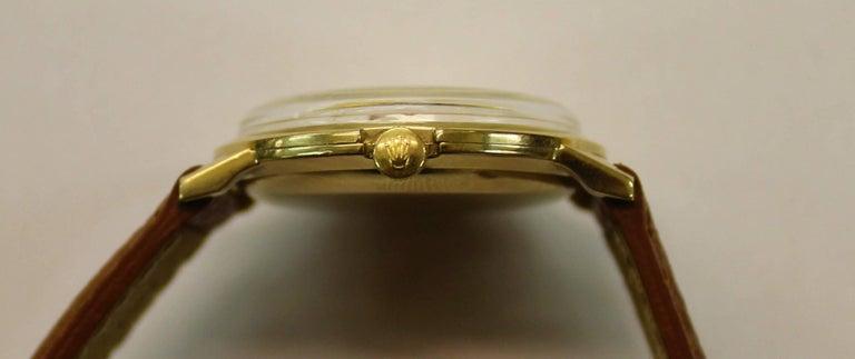 14-Karat Yellow Gold Rolex Men's Dress Watch For Sale 5