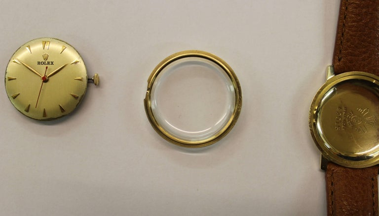 14-Karat Yellow Gold Rolex Men's Dress Watch For Sale 6