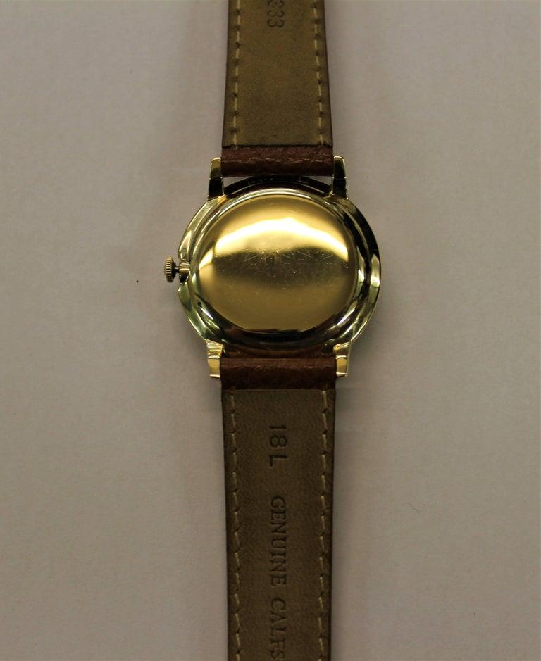 14-Karat Yellow Gold Rolex Men's Dress Watch For Sale 7