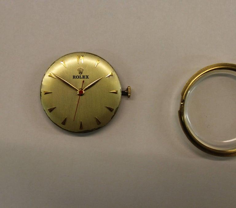 14-Karat Yellow Gold Rolex Men's Dress Watch For Sale 9