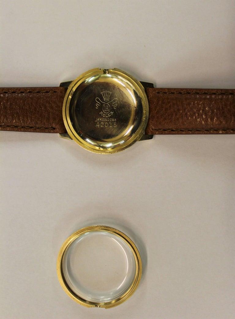 14-Karat Yellow Gold Rolex Men's Dress Watch For Sale 10