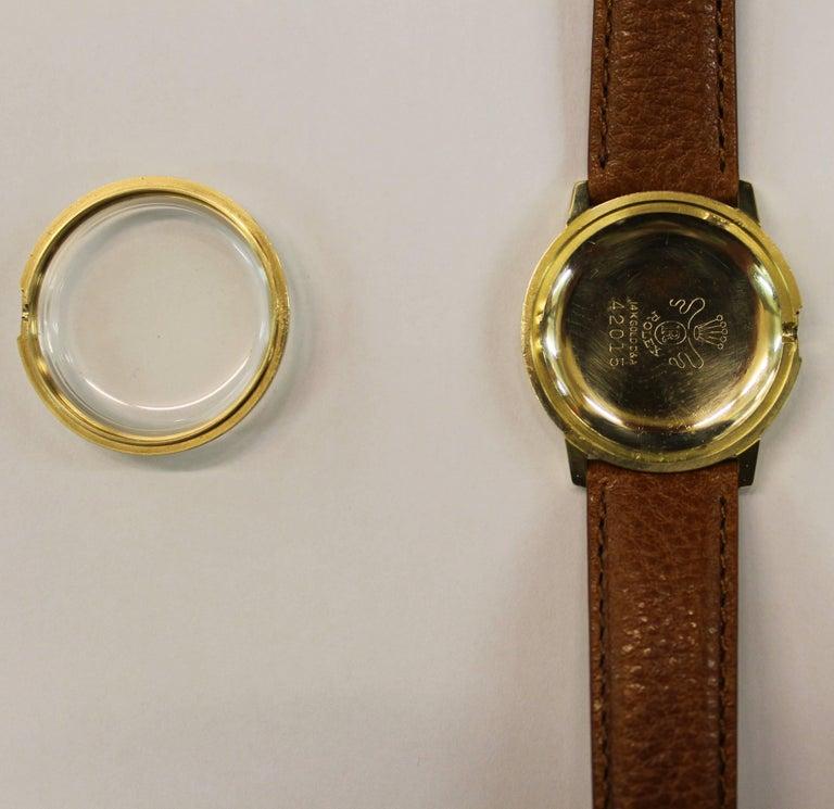 14-Karat Yellow Gold Rolex Men's Dress Watch For Sale 12