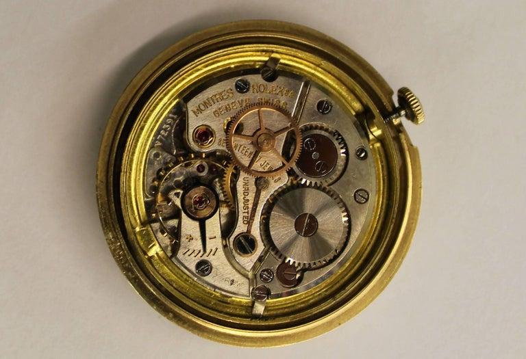 14-Karat Yellow Gold Rolex Men's Dress Watch For Sale 2