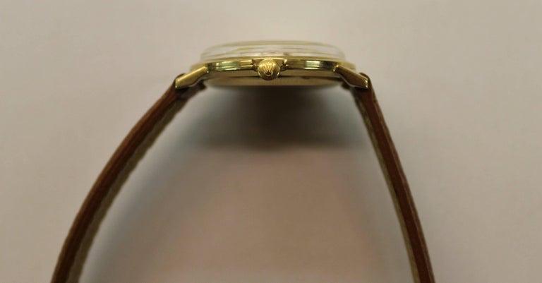 14-Karat Yellow Gold Rolex Men's Dress Watch For Sale 4