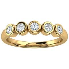 14k Yellow Gold Soph Delicate Bezel Diamond Ring '1/3 Ct. Tw'