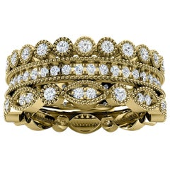 14K Yellow Gold Sophie Antique Diamond Stack Ring '1 Ct. Tw'