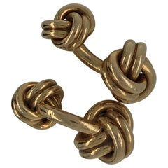 14 Karat Yellow Gold Tiffany & Co. Knot Cufflinks