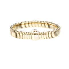 14 Karat Yellow Gold Tubogas Style Bracelet