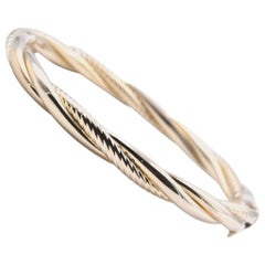 14 Karat Yellow Gold Twisted Bangle Bracelet