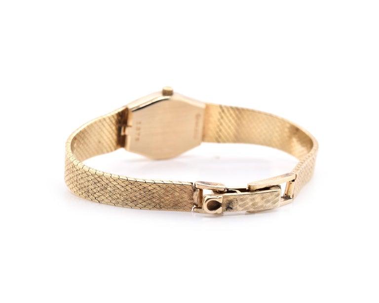 Women's or Men's 14 Karat Yellow Gold Vintage Omega Quartz Watch For Sale
