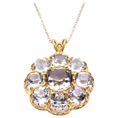 14 Karat Yellow Gold Vintage Quartz Necklace