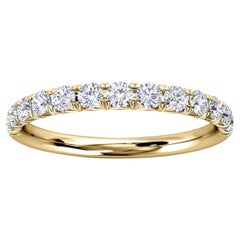 14K Yellow Gold Voyage French Pave Diamond Ring '1/3 Ct. Tw'