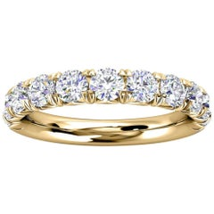 14k Yellow Gold Voyage French Pave Diamond Ring '1 Ct. Tw'