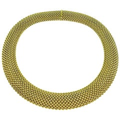 14 Karat Yellow Gold Weave Necklace