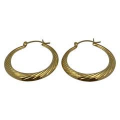 14 Karat Gold Hoop Earring, 4.0 Grams