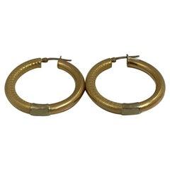 14 Karat Gold Hoop Earring, 7.8 Grams
