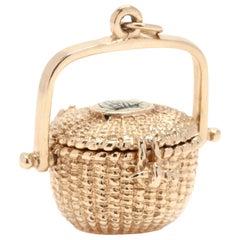 14 Karat Gold Nantucket Basket Charm
