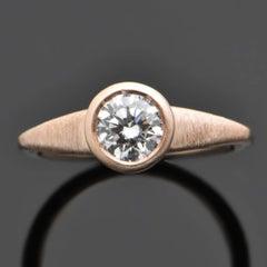 14kt Rose Gold Diamonds Ring
