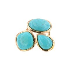 14kt Rose Gold with Turquoise Ring
