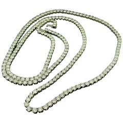 14KT White Gold 30.00 Carat Diamond Necklace
