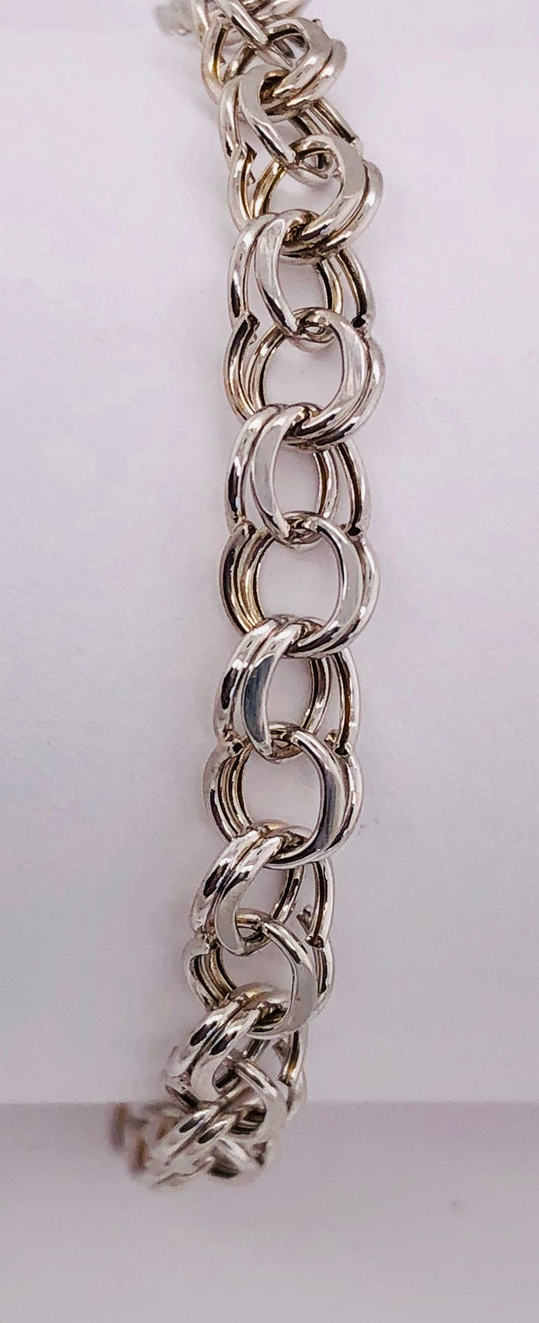 14 Karat White Gold Link Bracelet In Good Condition For Sale In Stamford, CT