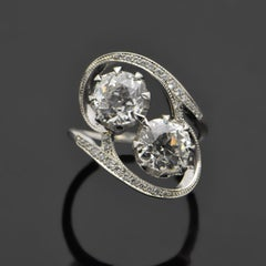 14kt White Gold Diamonds Ring