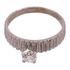 14 Karat White Gold Engagement Ring 0.50 Total Diamond Weight