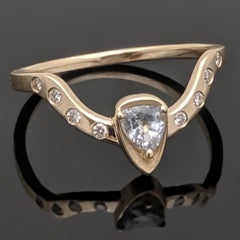 14kt Yellow Gold Diamonds Ring