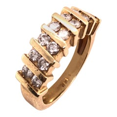 14 Karat Yellow Gold Fashion Ring 1.00 Total Diamond Weight