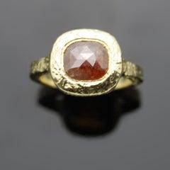 14kt Yellow Gold Rough Diamond Ring