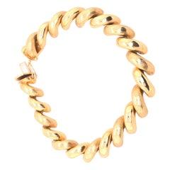 14 Karat Yellow Gold San Marco  Unisex Bracelet
