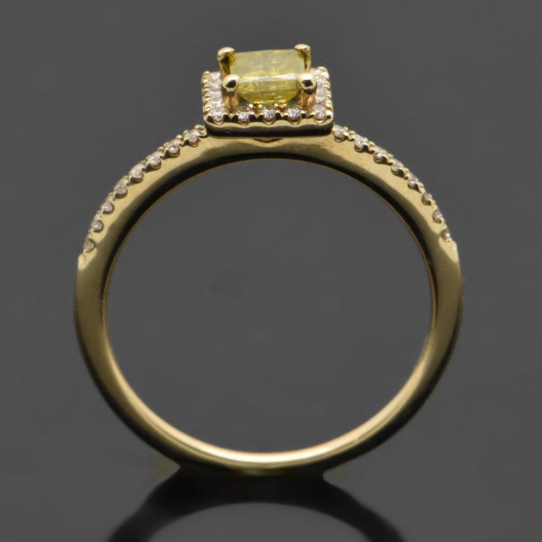 14 Karat Yellow Gold with Yellow Diamond Ring In New Condition For Sale In Los Angeles, CA