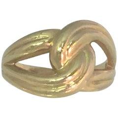 14 Karat Yellow Infinity Knot Ring