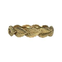 14KY Leaf Design Ring