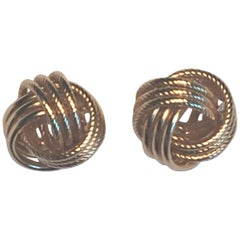 14 Karat Yellow Love Knot Stud Earrings