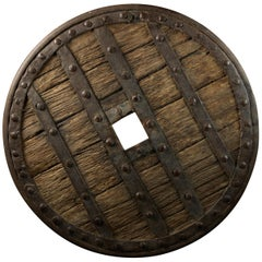 14th Century, France, Heavy Forged Iron and Hardwood Chariot Wheel