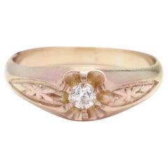 14Y Antique Diamond Floral Ring