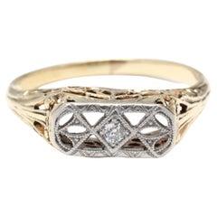 14YW Diamond Edwardian Filigree Ring