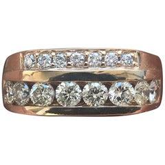 1.5 Carat Approximate Round Diamond Men's Wedding Band, Ben Dannie